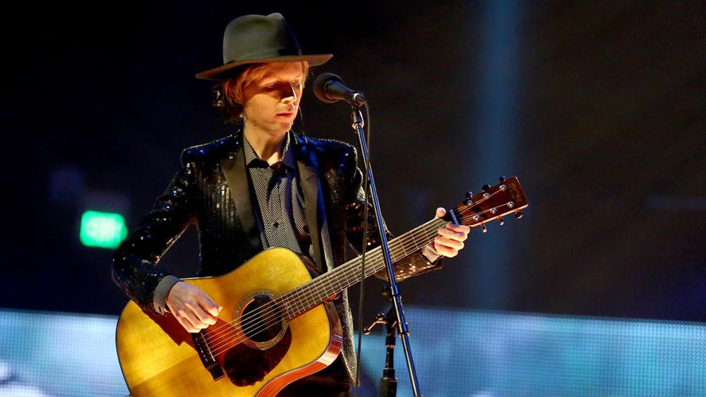 "Beck's soaring rendition of ""Sound And Vision"" includes full orchestra, a gospel choir, an Alphorn and even a yodeler. (Courtesy of the artist)"