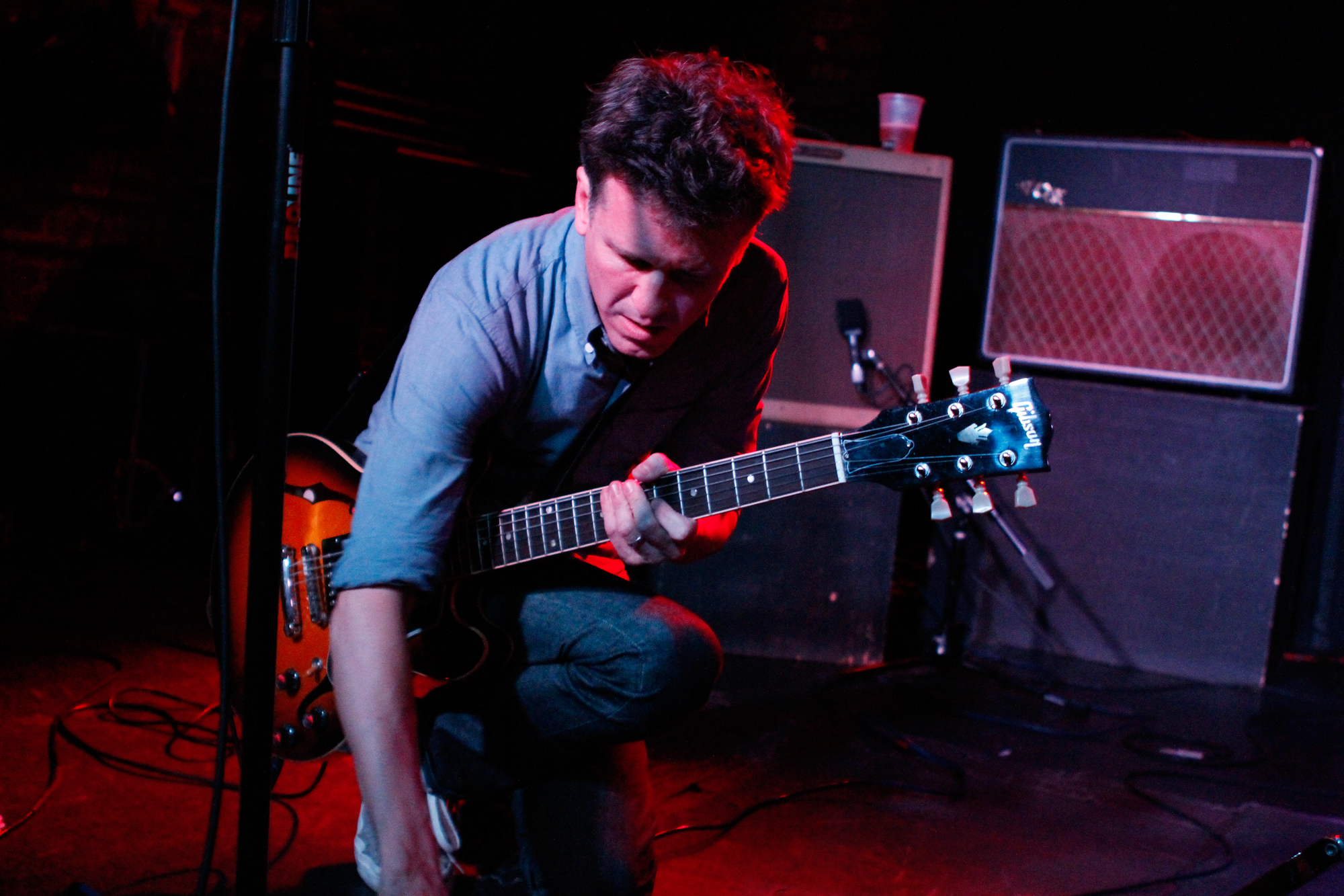 Mac McCaughan performs with Telekinesis at Merge Records' showcase at Mercury Lounge during the CMJ Music Marathon in New York, NY on Oct. 18, 2012.