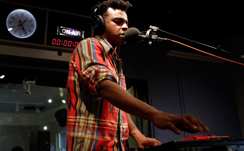 Sinkane performs in the Soundcheck studio. (Michael Katzif / WNYC)