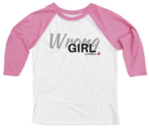wrong girl baseball tee