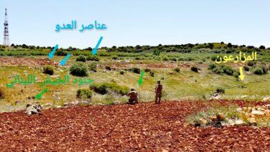 جنود الجيش اللبناني يستنفرون وجها لوجه مع قوة صهيونية كانت تصوب اسلحتها على مزارعين لبنانيين