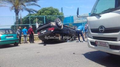 حادث سير على طريق الزهراني !! اليكم التفاصيل