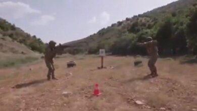 بالفيديو جانب من تدريبات الحزب حنوب لبنان بالذخيرة الحية