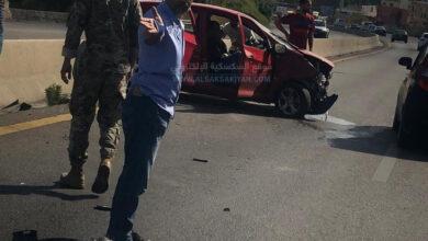 جريح بحادث سير مروع على اوتوستراد الجية