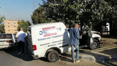 جريح بحادث سير عند مدخل بلدة البابلية