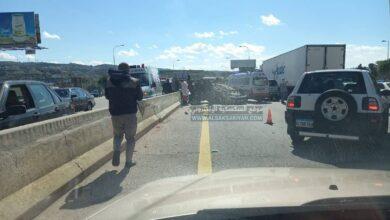 عاجل : حادث سير مروع في الزهراني يوقع إصابات