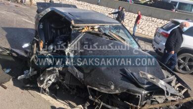 حادث سير مروع على أوتوستراد الدامور