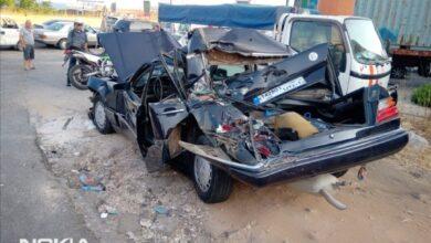 اصطدام شاحنة بطابور سيارات على محطة في الدامور