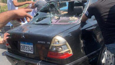 عاجل بالصور : إطلاق نار على سيارات المواطنين على إحدى محطات العباسية