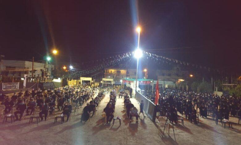 الحزب أحيا ليلة الخامس من محرم في بلدة السكسكية