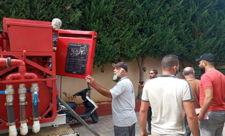 بالصور: وصول المازوت الإيراني إلى أصحاب المولدات في السكسكية