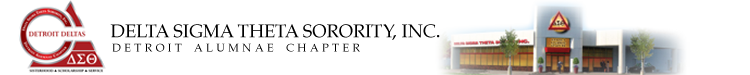 Detroit Alumnae Chapter - Delta Sigma Theta Logo