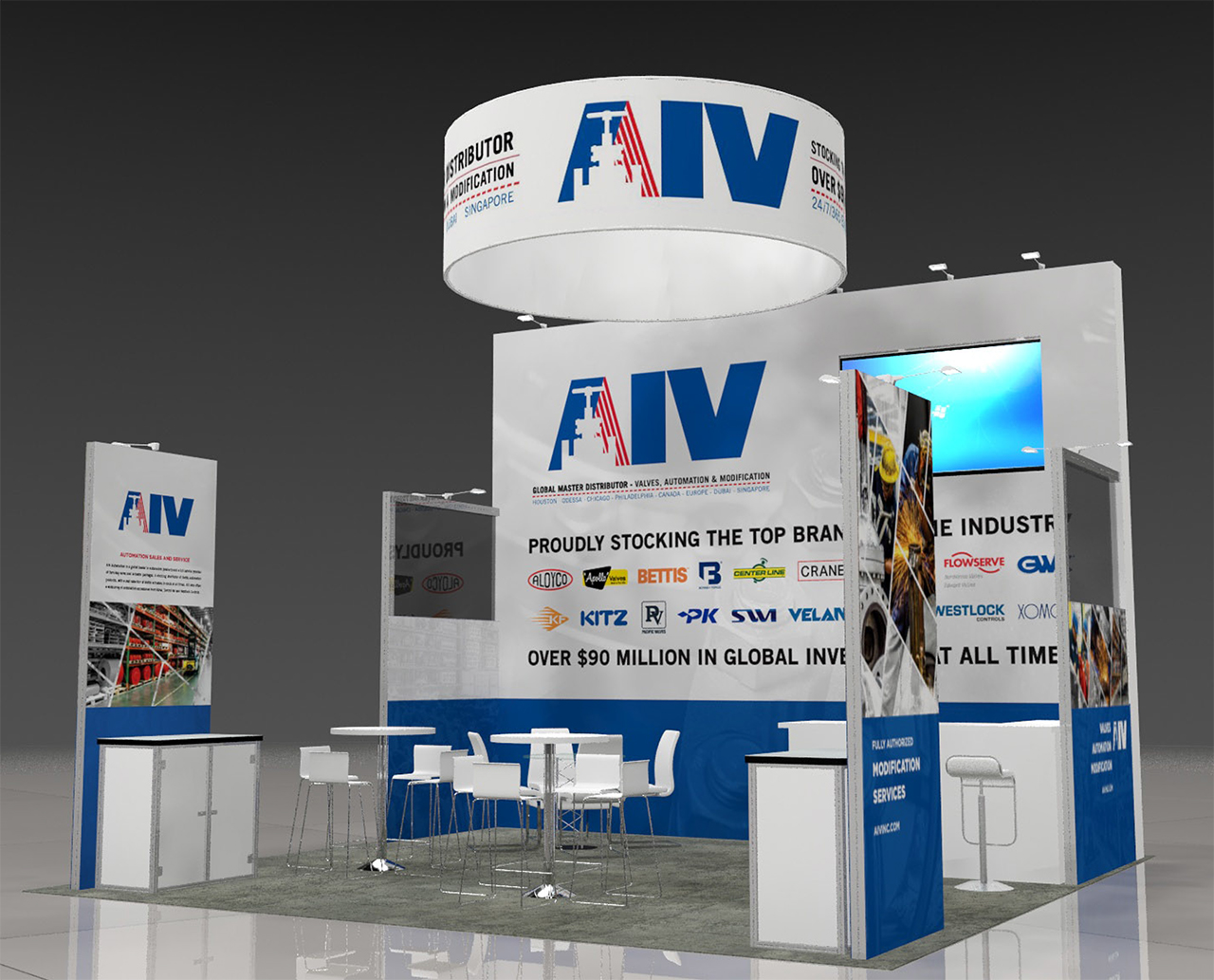AIV Trade Show Booth Design Dylan Moore Marketing Design