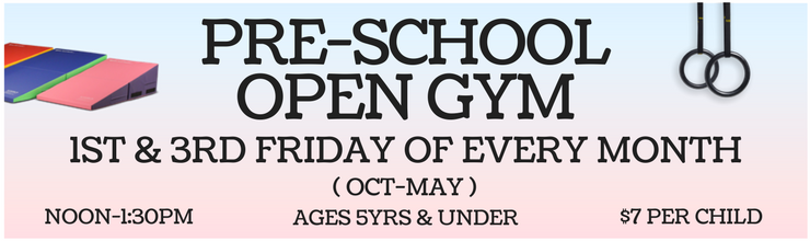 Slider- Pre-School Open Gym