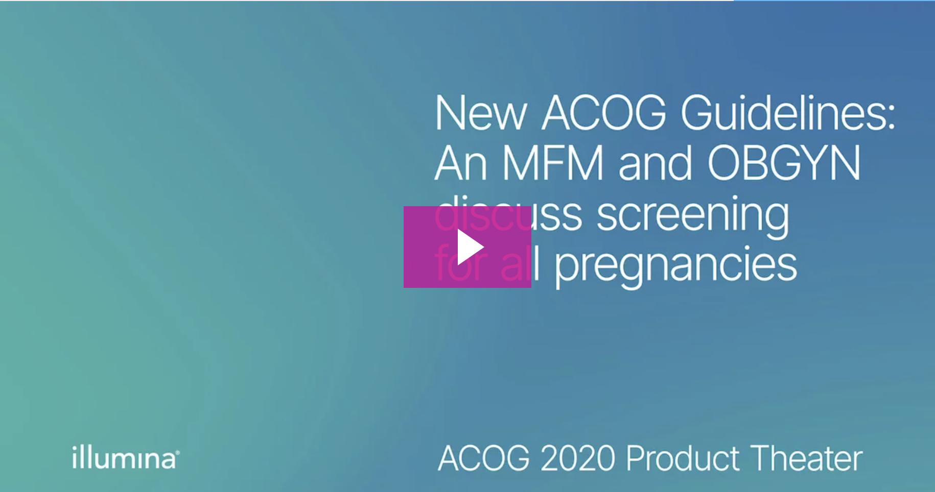 screengrab of ACOG Guidelines video