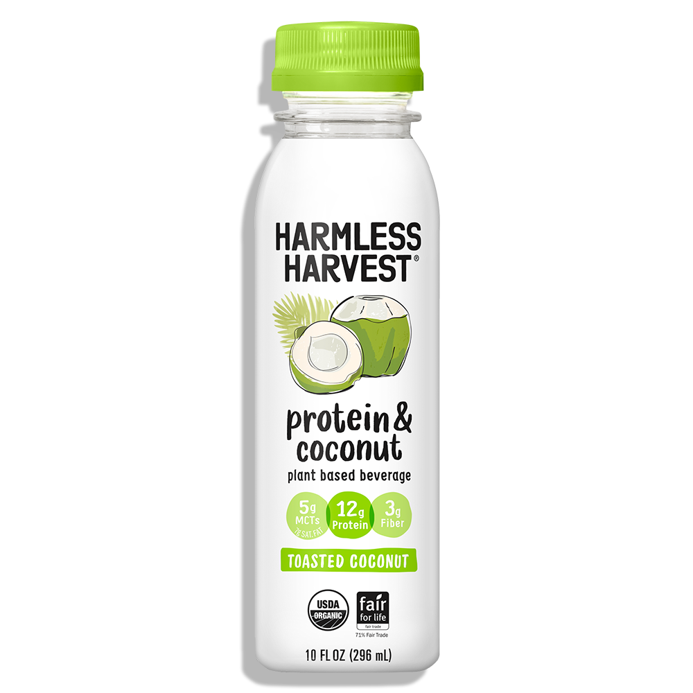 Harmless Harvest Protein & Coconut 10oz bottle, Toasted Coconut flavor