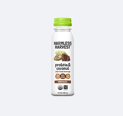 Harmless Harvest Protein & Coconut 10oz bottle, Chocolate flavor