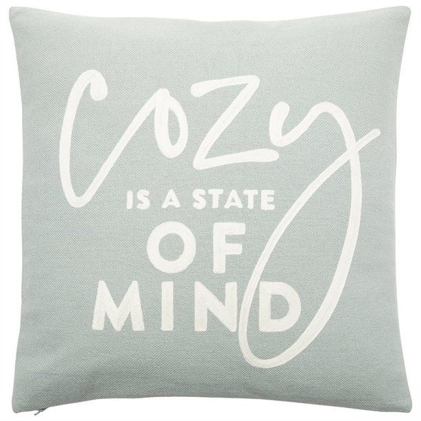 "Expressions Cozy Mind Pillow - 18"" X18"", $34.50"