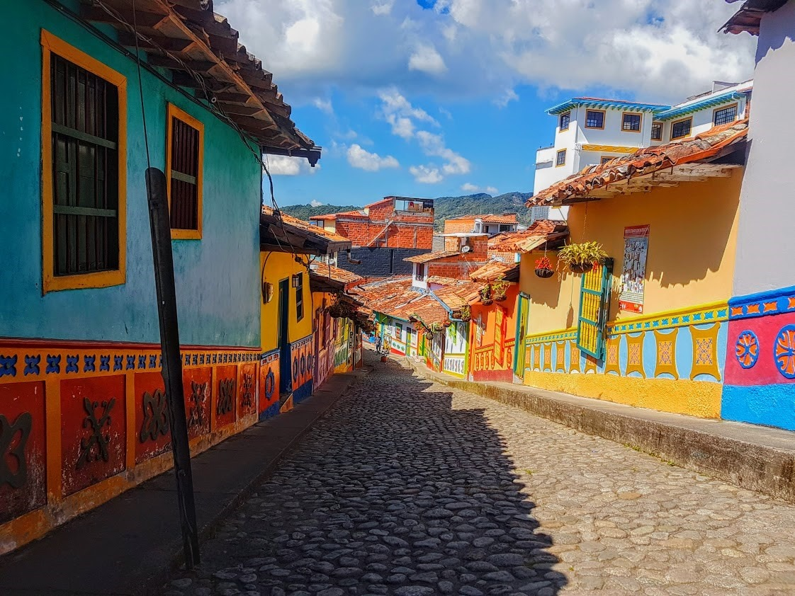 The colourful streets of Guatapé