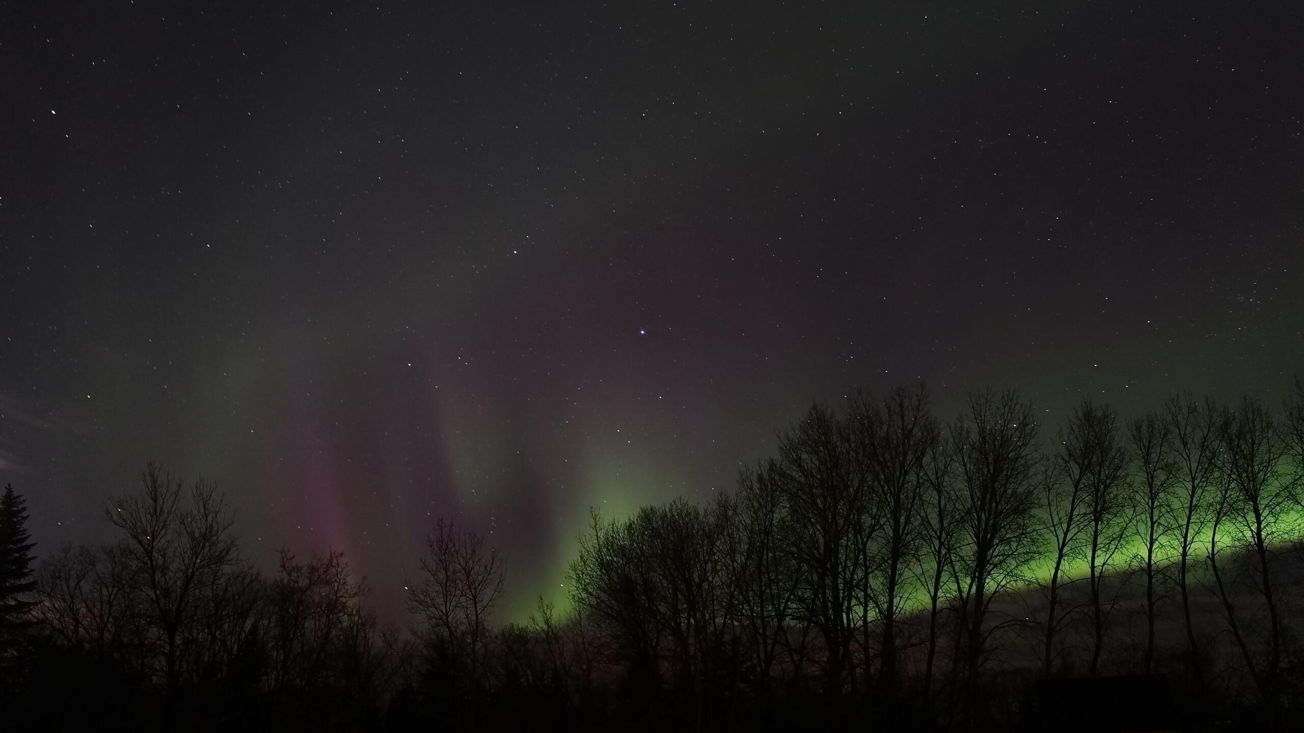 Northern Lights in Manitoba, Canada