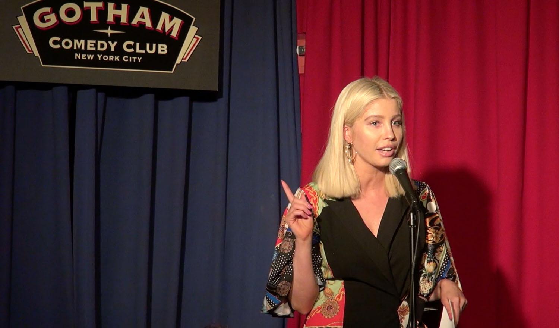 arielle raycene at gotham comedy club new york city