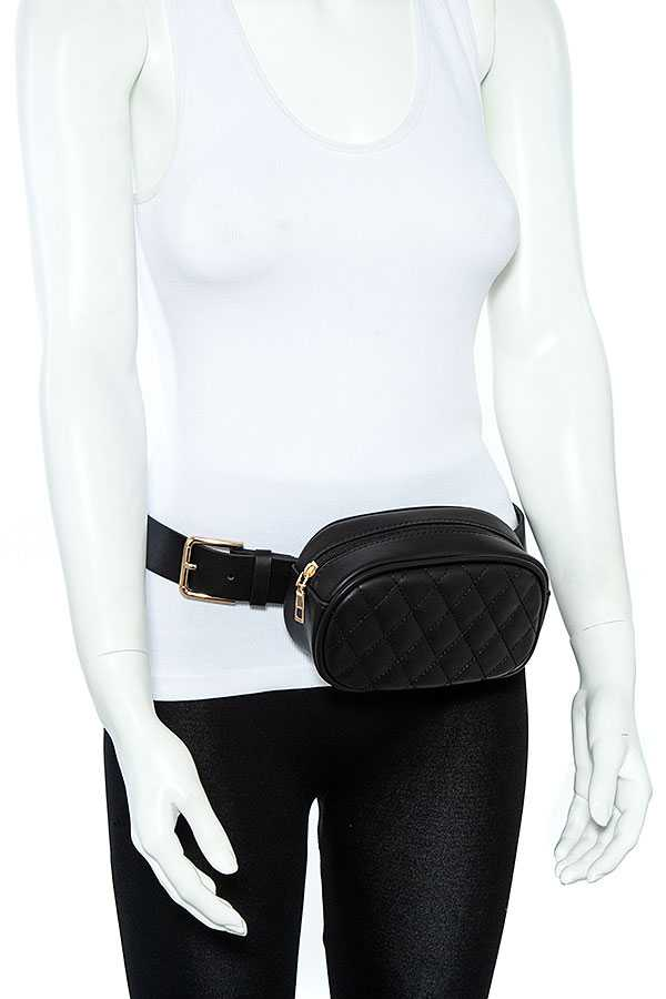 Quilted Pattern Fanny Pack