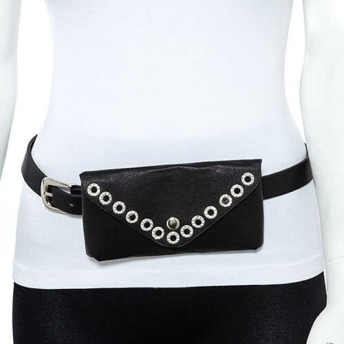 Gem Pave Fashion Bag Belt Closed