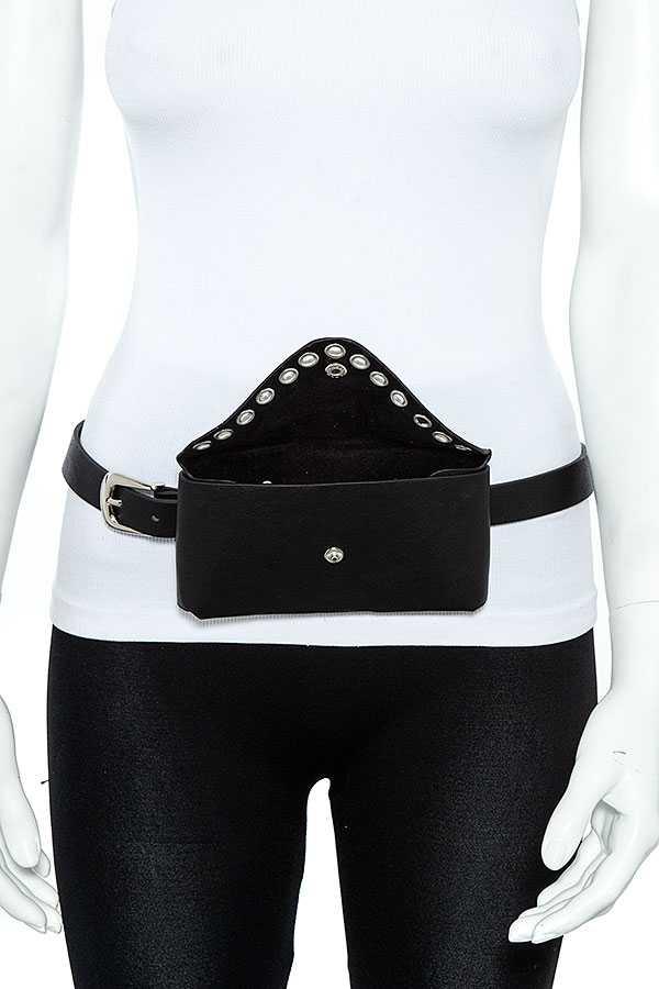 Gem Pave Fashion Bag Belt Open