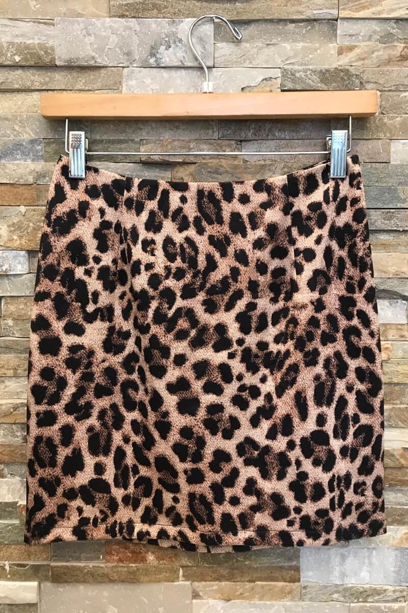 Leopard Skirt With Zipper Back
