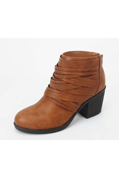 Camel Strap Detailed Casual Booties