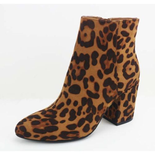 Casual Leopard Ankle Booties