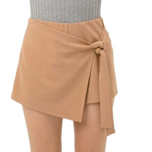 Side Knot Wrap Skort