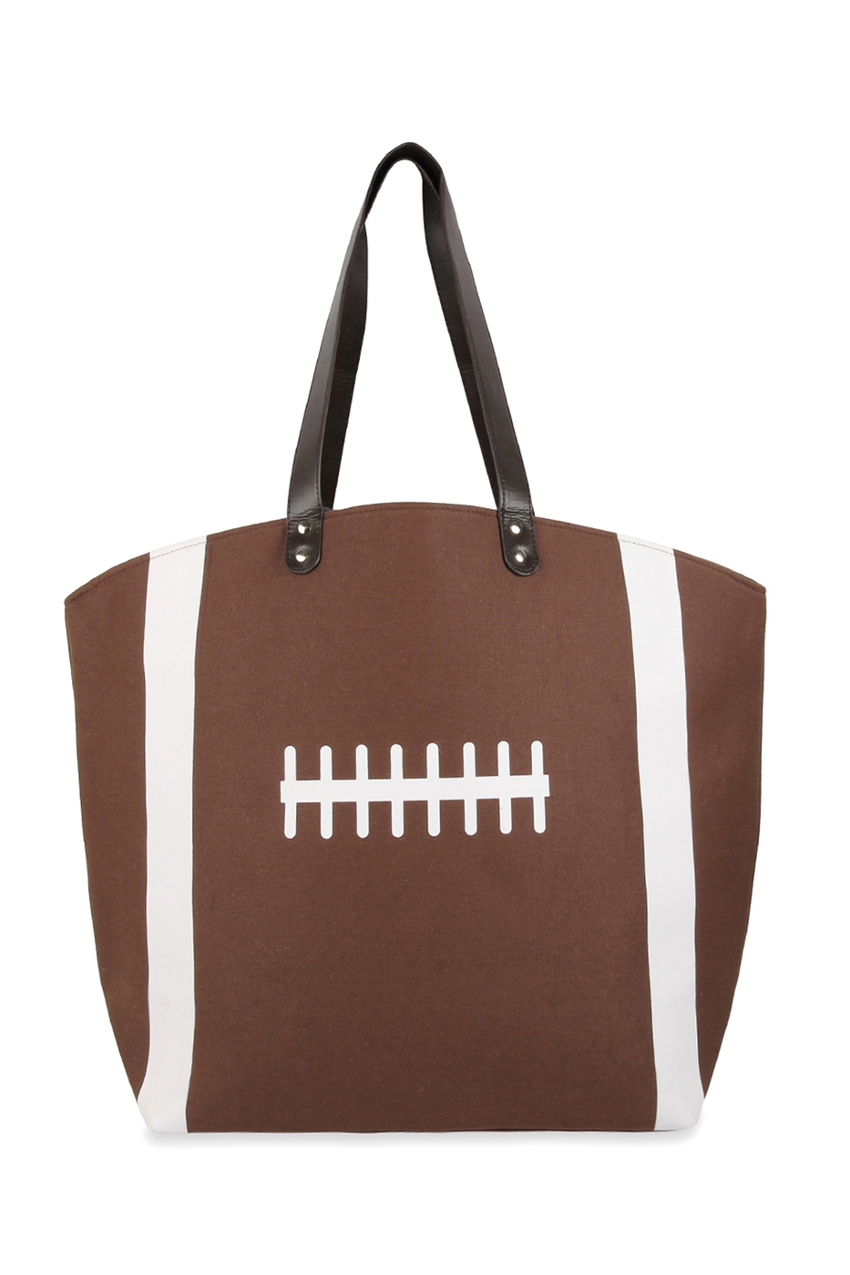 Leather Footbal Tote Bag