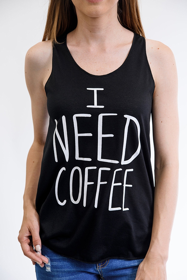 """""""I Need Coffee"""" Tank Top"""