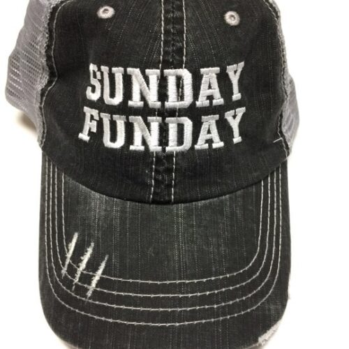"""""""Sunday Funday"""" Embroidered Hat"""