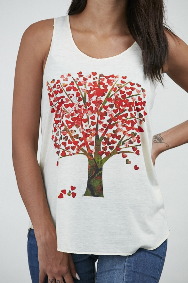 Tree with Hearts Tank Top