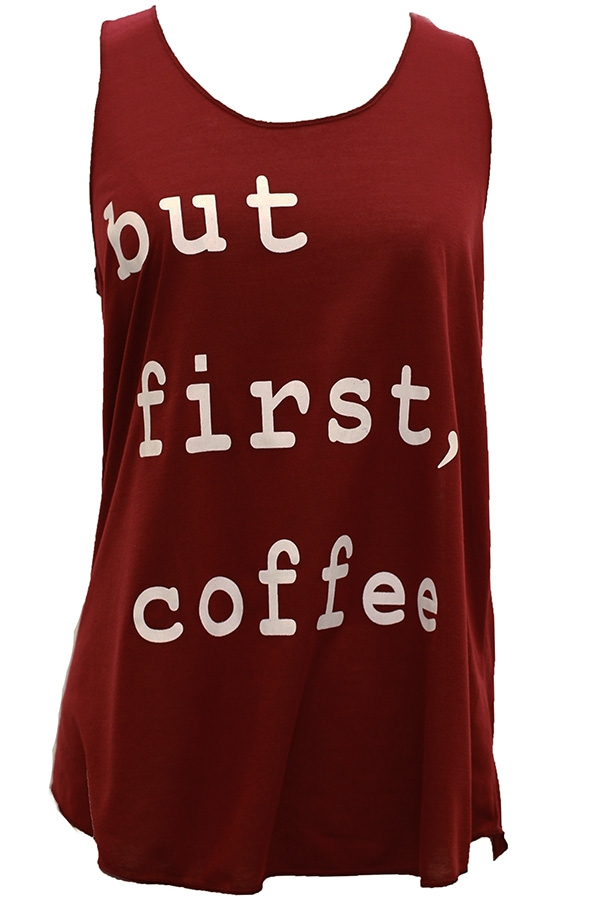 """But First, Coffee"" Tank Top"