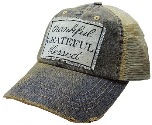 """thankful GRATEFUL blessed"" Trucker Hat"