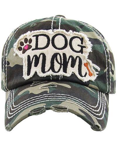 """DOG MOM"" Cotton Hat Camo"