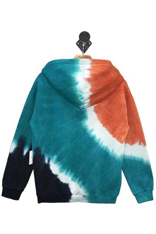 Tie Dye Fleece Hoodie Multi Back