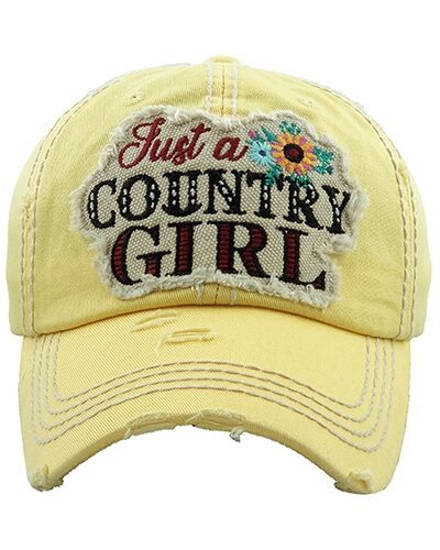 """""""Just a Country Girl"""" Cotton Hat"""