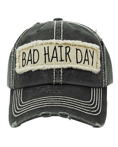 """""""BAD HAIR DAY"""" Cotton Hat"""