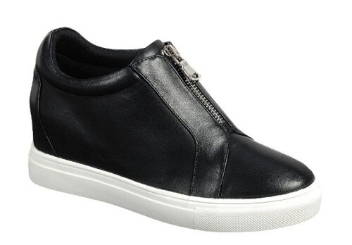 Faux Leather Mid Top Sneakers