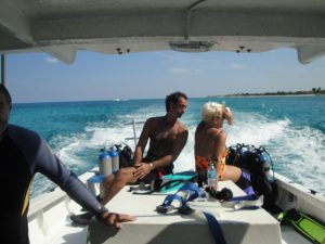 Dive Boat Ride Out to Dive Sites Paulette and Clark