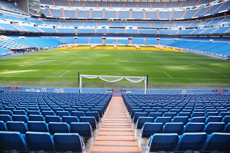 Soccer game field Spain