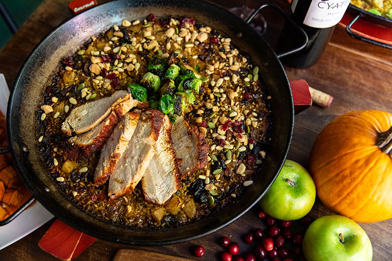 Thanksgiving Turkey Paella Recipe
