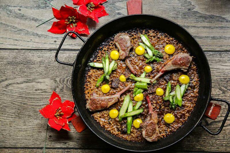 Christmas Lamb Paella Recipe