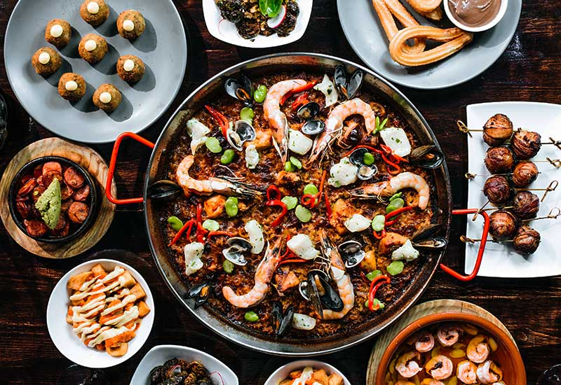 Spanish dinner for two from Socarrat Paella Bar