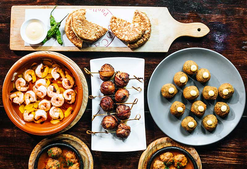 Order a selection of the best nine tapas from Socarrat NYC