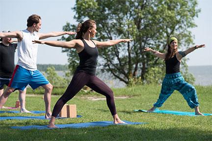 arc yoga outside